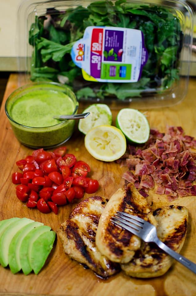 Chicken BLT Salad with Citrus Tomatillo Dressing - 2