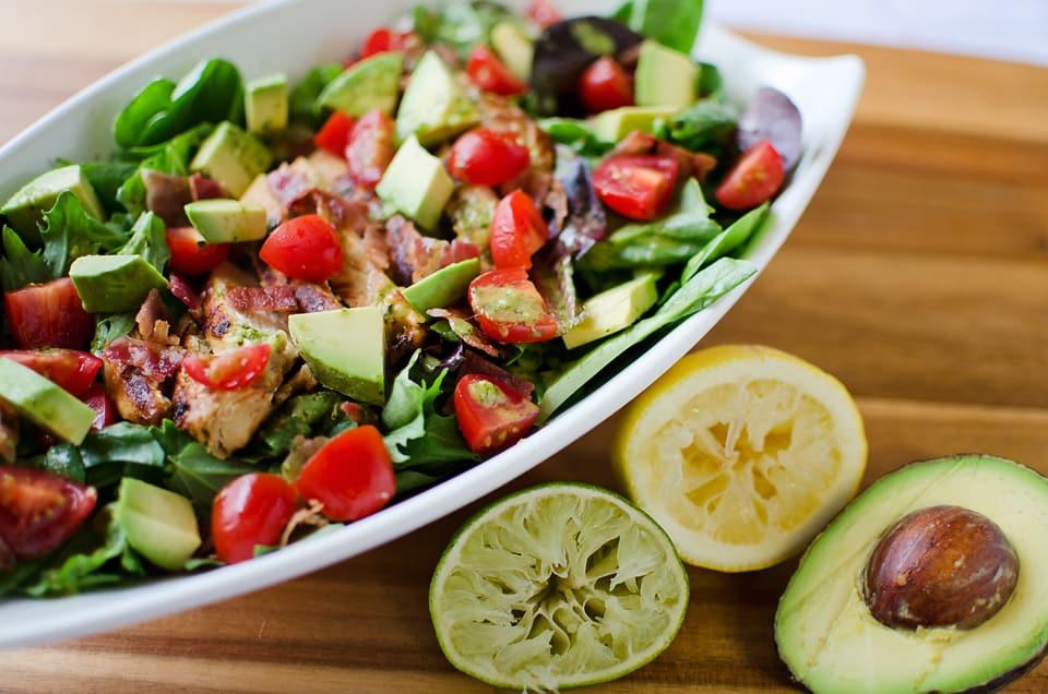 Chicken BLT Salad with Citrus Tomatillo Dressing - 3