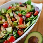 Chicken BLT Salad with Citrus Tomatillo Dressing