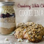 Cranberry Whit Chocolate Chip Cookies in a Jar - Gift