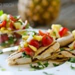 Light Chipotle Chicken & Cheese Quesadillas - Healthy Dinner