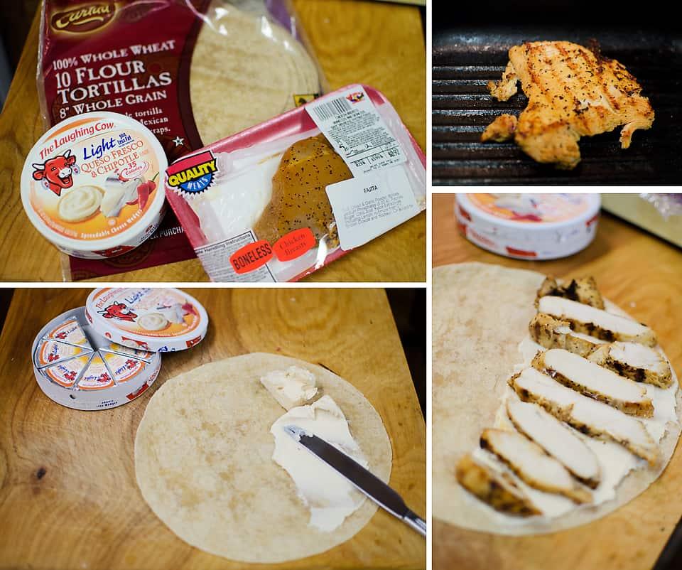 Light Chipotle Chicken & Cheese Quesadillas