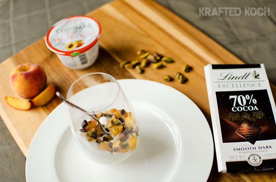 Peach Yogurt Parfait with pistachios and dark chocolate 2 copy