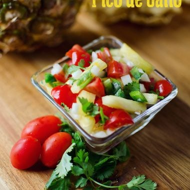 Pineapple Pico de Gallo - Fresh & Healthy