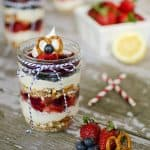 Red, White & Blue Berry Parfait