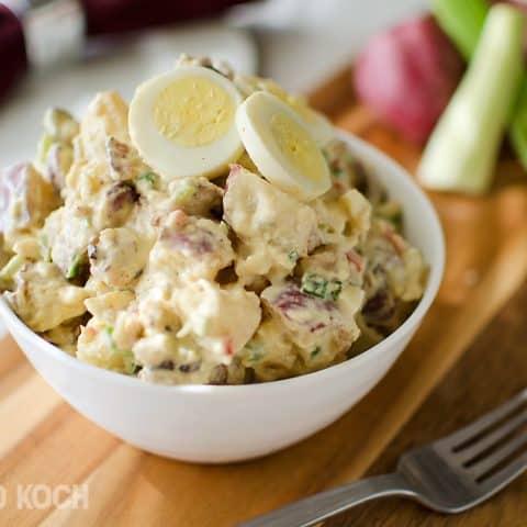 Roasted Garlic & Red Skin Potato Salad