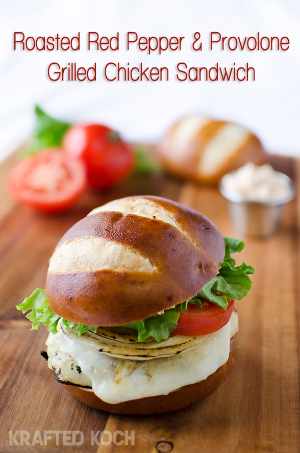 Roasted Red Pepper & Provolone Grilled Chicken Sandwich ~ The Creative ...