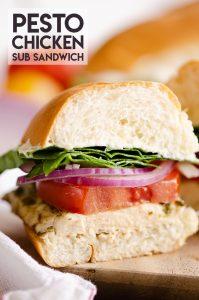 Pesto Chicken Sub Sandwich