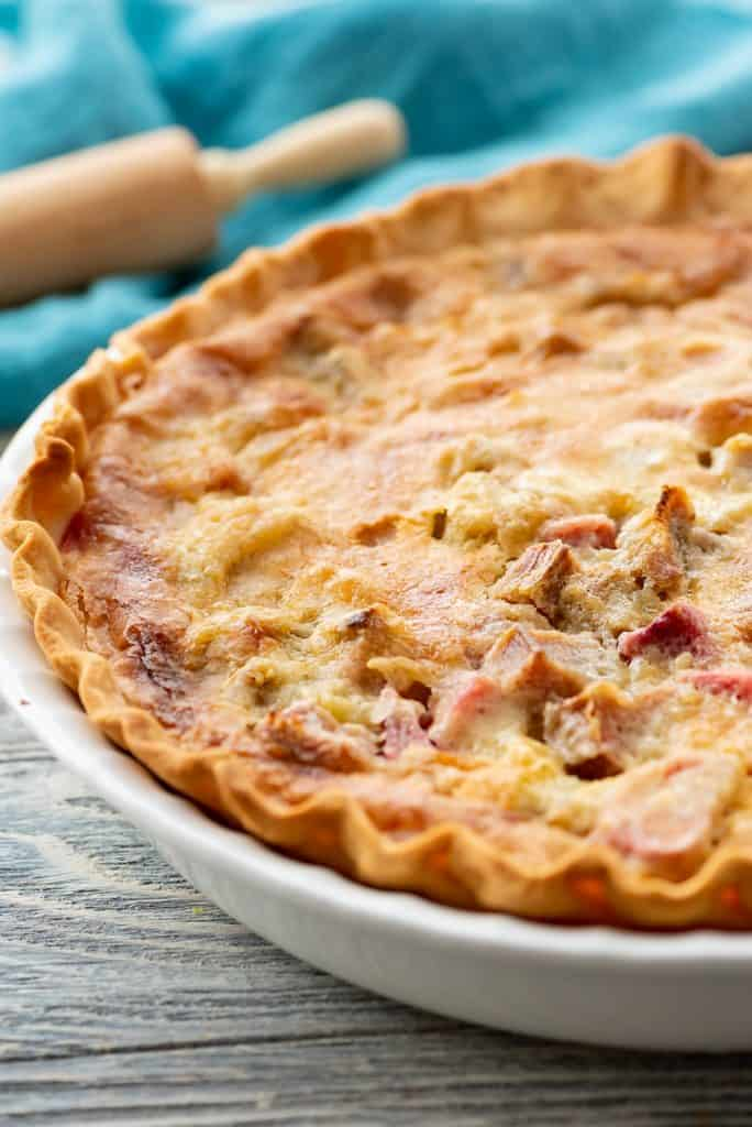 Rhubarb Custard Pie baked