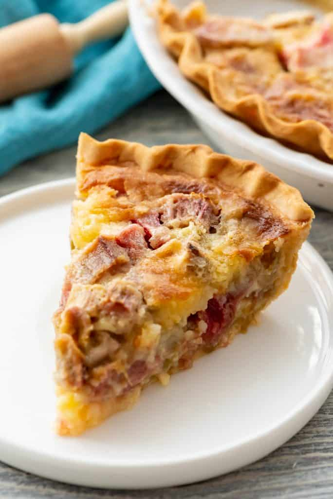 Rhubarb Custard Pie slice