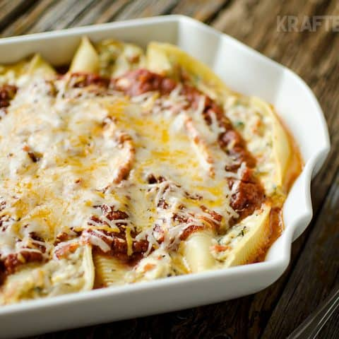 Vegetable & Three Cheese Stuffed Shells - Krafted Koch