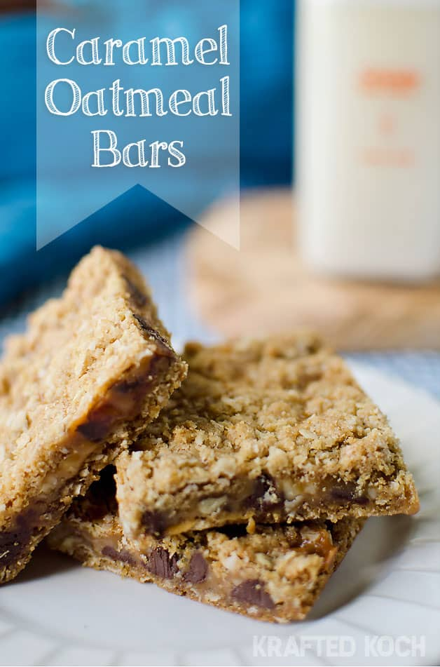 Caramel Oatmeal Bars - Krafted Koch