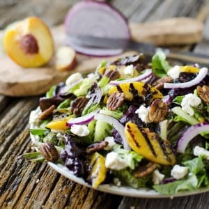 Grilled Peach, Honey Goat Cheese & Spiced Pecan Salad ~ Page 2 of 2