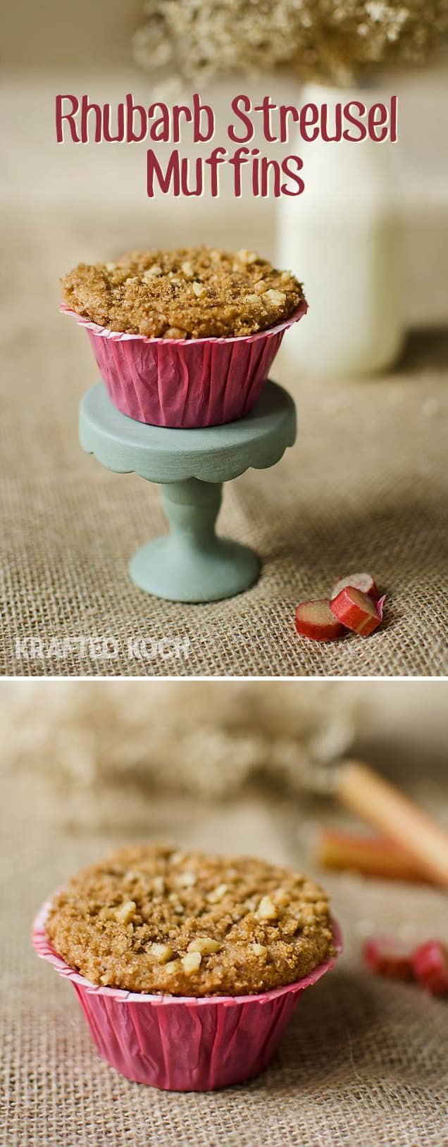 Rhubarb Streusel Muffin - Krafted Koch