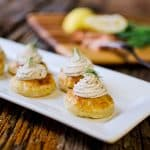 Smoked Salmon & Goat Cheese Puff - Krafted Koch