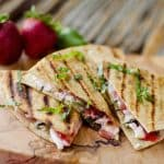 Strawberry Basil & Honey Goat-Cheese-Quesadillas - Krafted Koch