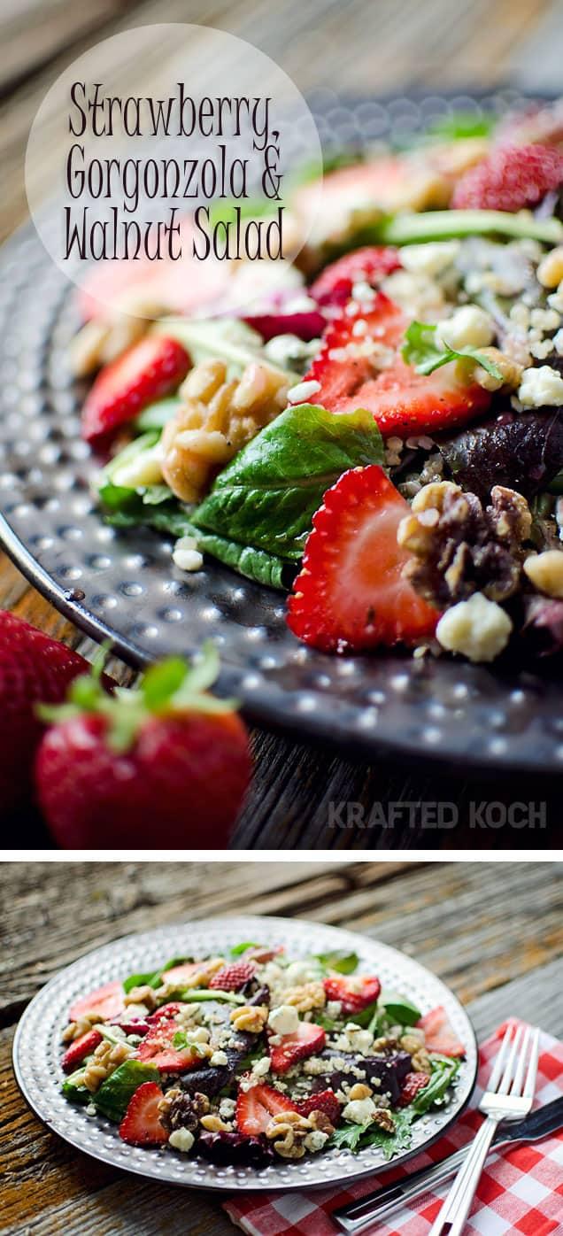 Strawberry & Gorgonzola Quinoa Salad - Krafted Koch