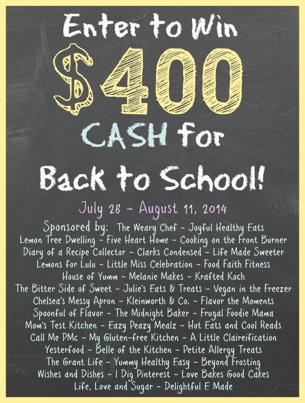 $400 cash back to school giveaway - Krafted Koch