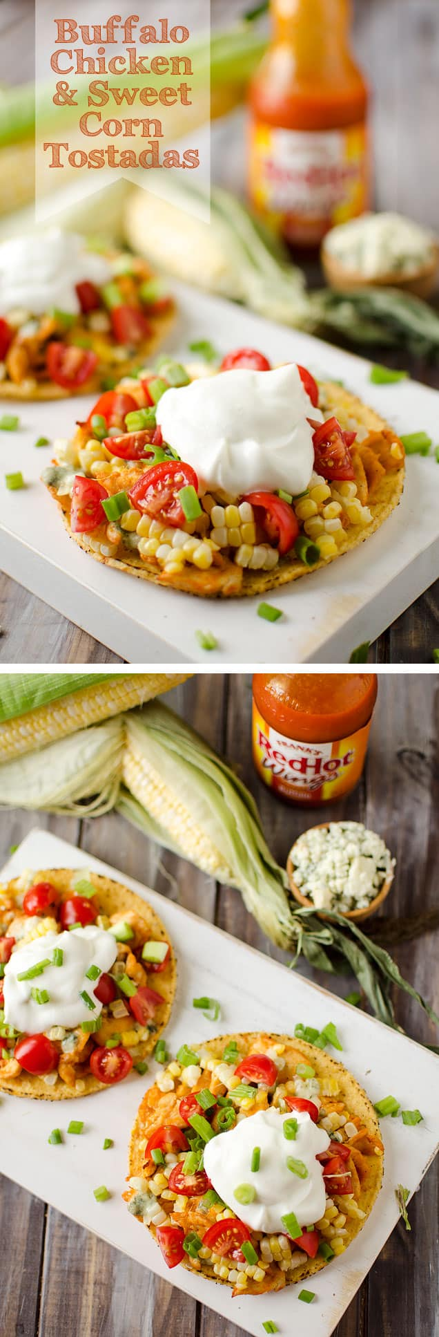 Buffalo Chicken and Sweet Corn Tostada - Krafted Koch