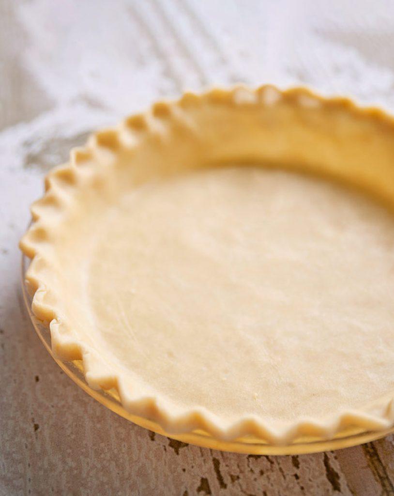 Flaky Pie Crust Recipe in pie plate