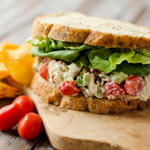 Light Ranch BLT Chicken Salad Sandwich - Krafted Koch