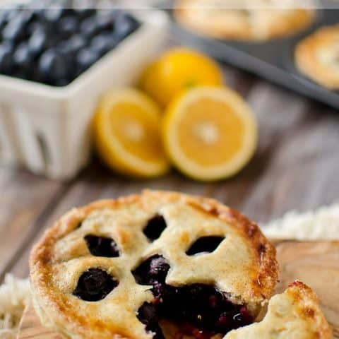 Mini Blueberry & Meyer Lemon Cream Pies - Krafted Koch
