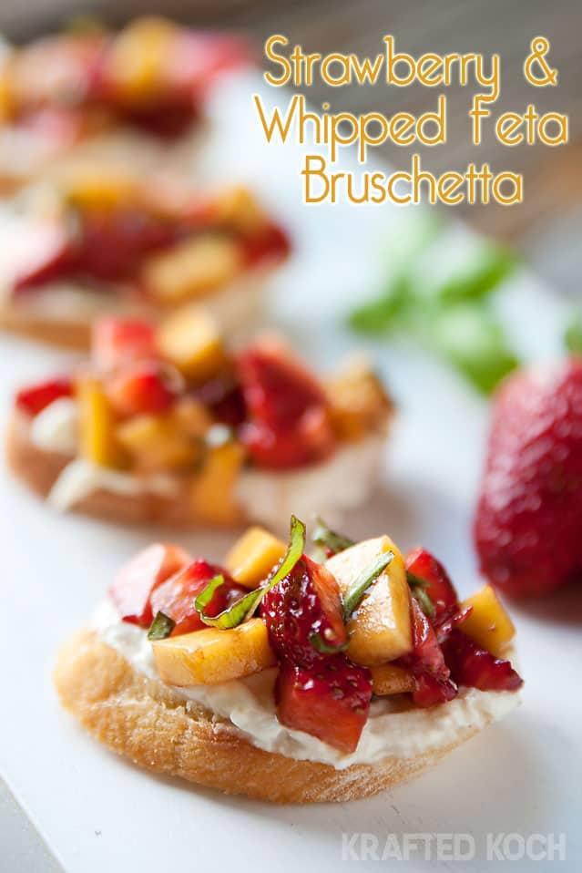Strawberry & Whipped Feta Bruschetta - Krafted Koch
