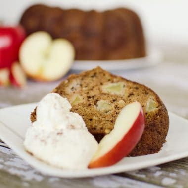 Apple Bundt Cake - Krafted Koch - A moist bundt cake studded with large chunks of tart apples for the perfect fall dessert!