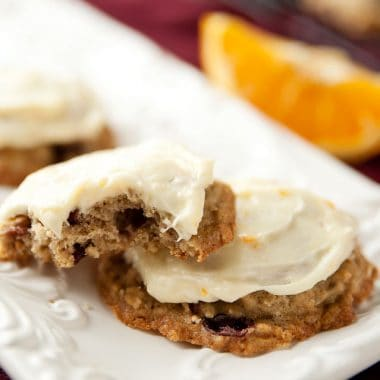 Cranberry Oatmeal Cookies with Orange Buttercream - Krafted Koch - A moist and flavorful cookie recipe that is perfect for fall!