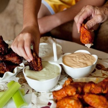 Game Day Wings and Trio of Dipping Sauce Recipes - Krafted Koch