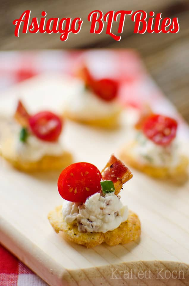 Asiago BLT Bites - Krafted Koch - A quick and easy appetizer recipe the whole crowd will love!