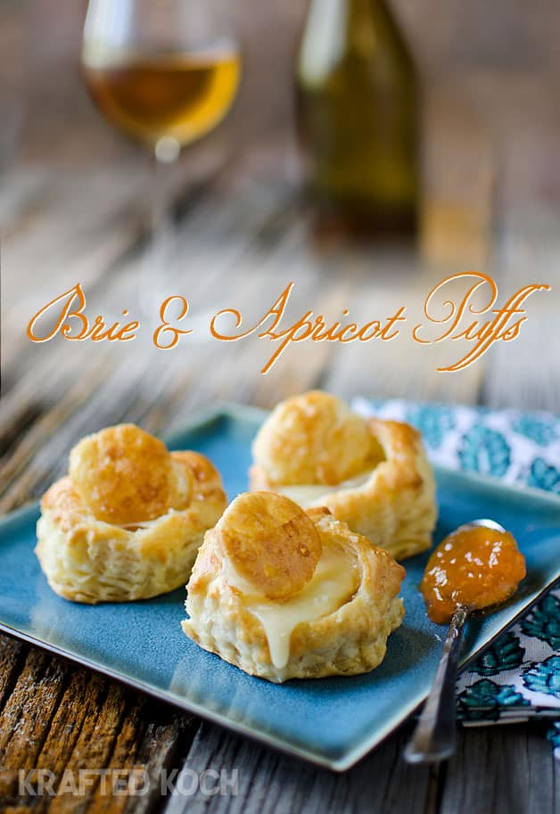 Brie and Apricot Puffs - Krafted Koch - A quick and simple appetizer recipe that will impress your guests!