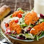 Crispy Buffalo Chicken Salad with Light Greek Yogurt Bleu Cheese Dressing - Krafted Koch