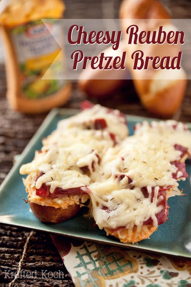 Cheesy Reuben Pretzel Bread - Krafted Koch - A simple and flavorful recipe that makes for a simple weeknight dinner.