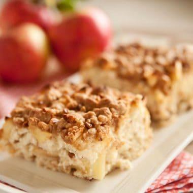 Apple & Cinnamon Streusel Coffee Cake - Krafted Koch