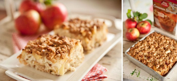 Apple & Cinnamon Streusel Coffee Cake - Krafted Koch