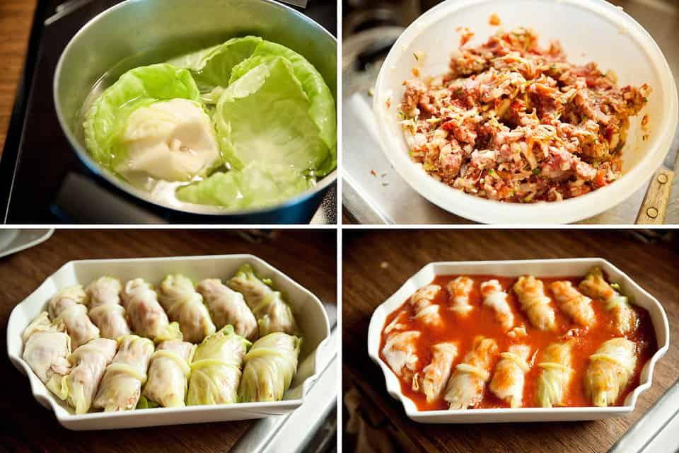 Beef, Rice & Vegetable Stuffed Cabbage Rolls - Krafted Koch