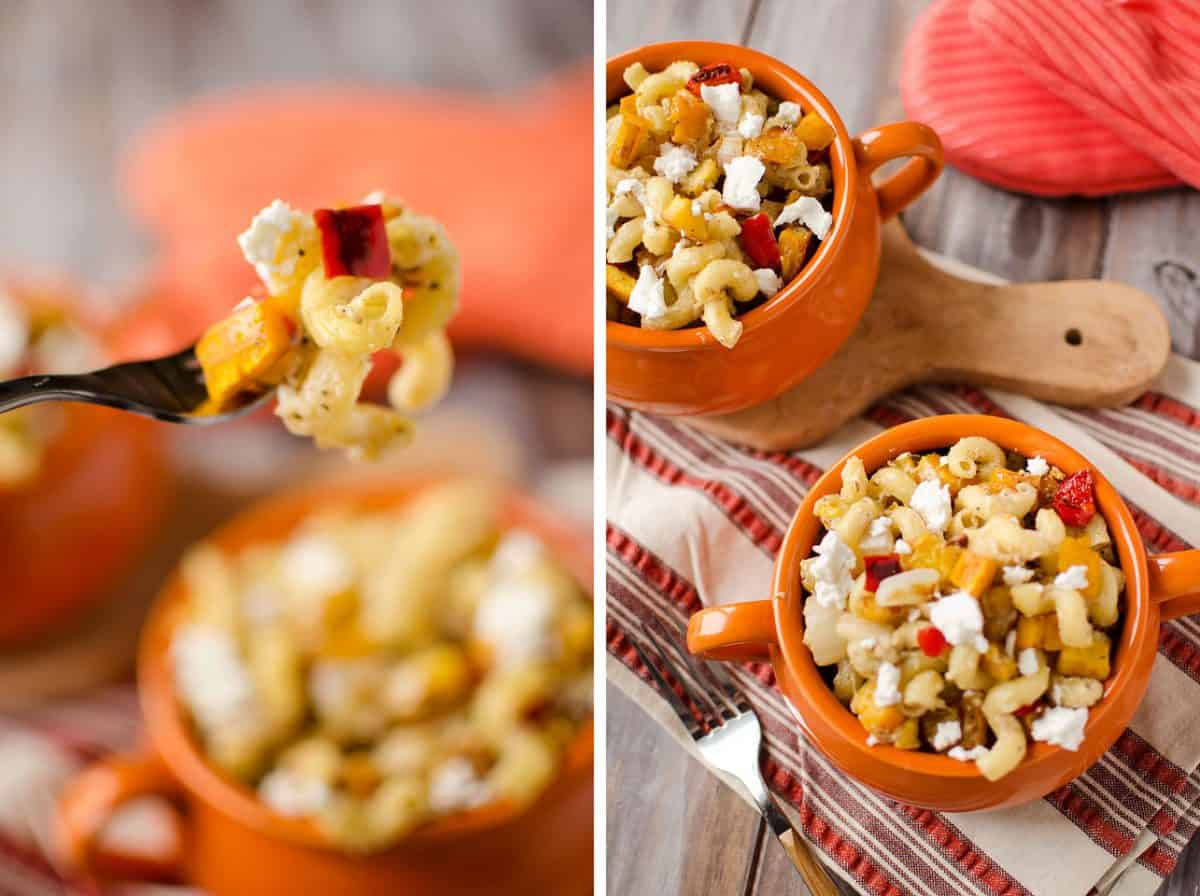 Roasted Squash and Goat Cheese Pasta - Krafted Koch