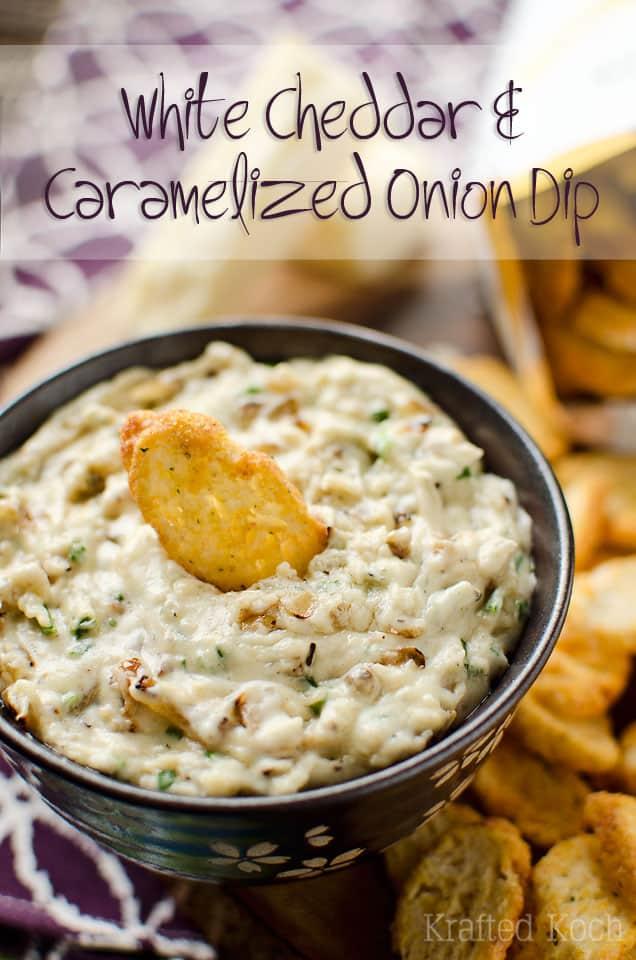 White Cheddar & Caramelized Onion Dip - Krafted Koch