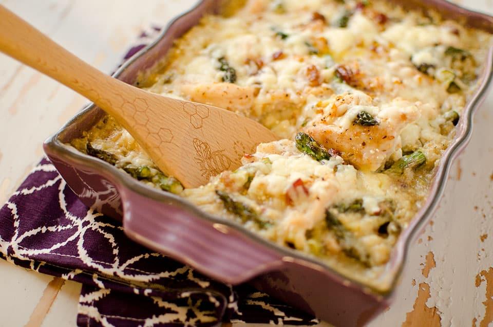 Asparagus, Chicken & Quinoa Bake - Krafted Koch