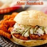 Buffalo Chicken & Bleu Cheese Slaw Sandwich - Krafted Koch