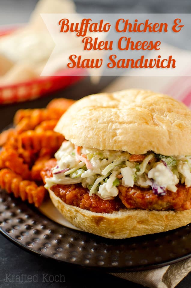 Buffalo Chicken & Bleu Cheese Slaw Sandwich - Krafted Koch