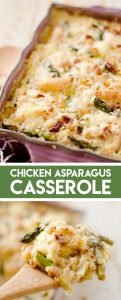Light Asparagus, Chicken Quinoa Bake