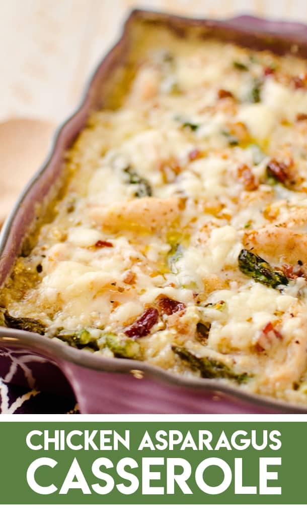 Light Asparagus, Chicken Quinoa Bake