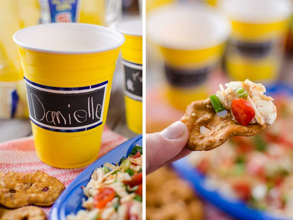 Green Chili & Cheese Dip - Kraffted Koch - Up for Anything with Solo Cup Party Essentials