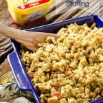 Crock Pot Bacon & Cornbread Stuffing - Krafted Koch - A quick and simple side dish recipe made in your slow cooker perfect for the holidays!