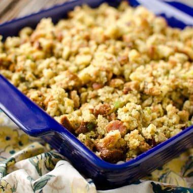 Crock Pot Bacon & Cornbread Stuffing - Krafted Koch