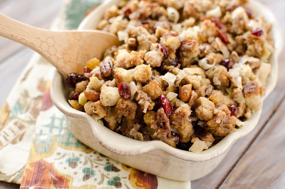 Crock Pot Cranberry Pecan Stuffing - Krafted Koch