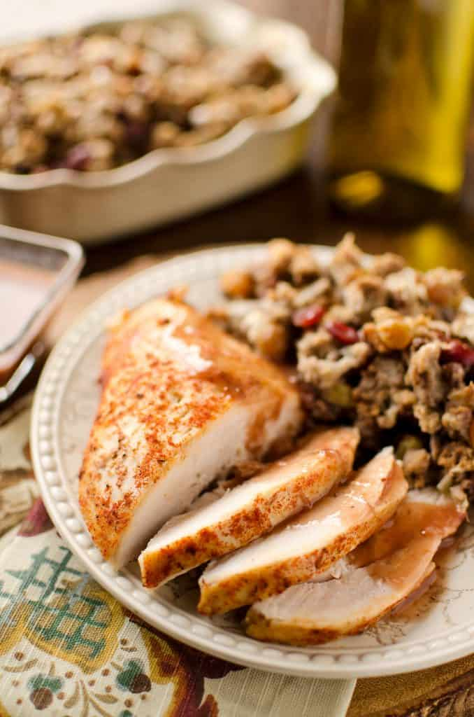 Turkey Breast with crock pot cranberry sauce