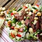 Steak & Bleu Cheese Salad with NatureBox Roasted Corn - Krafted Koch